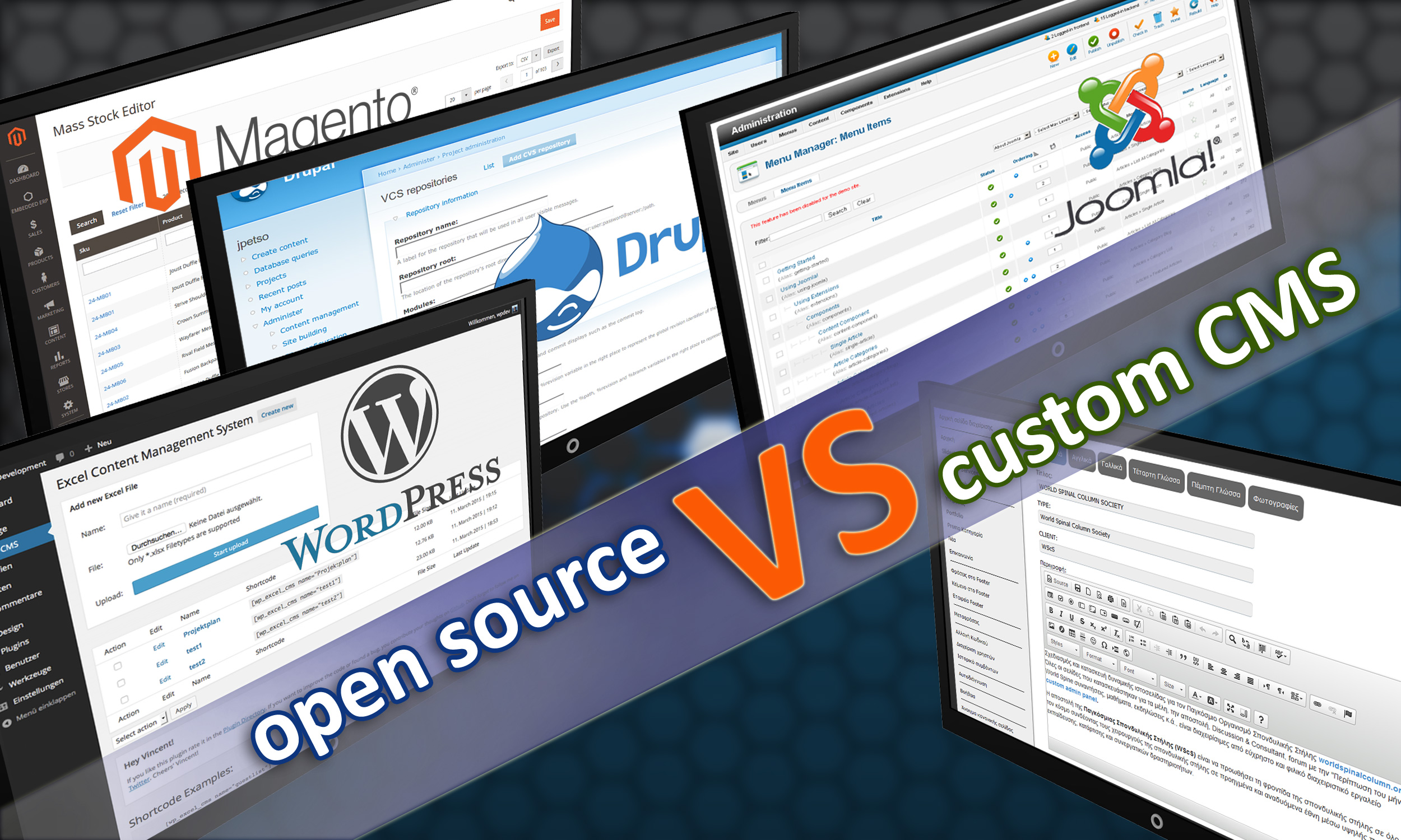 opensource VS custom